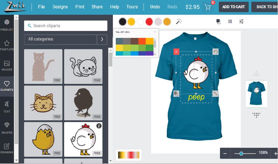 Zwik Designer - customize apparel tool