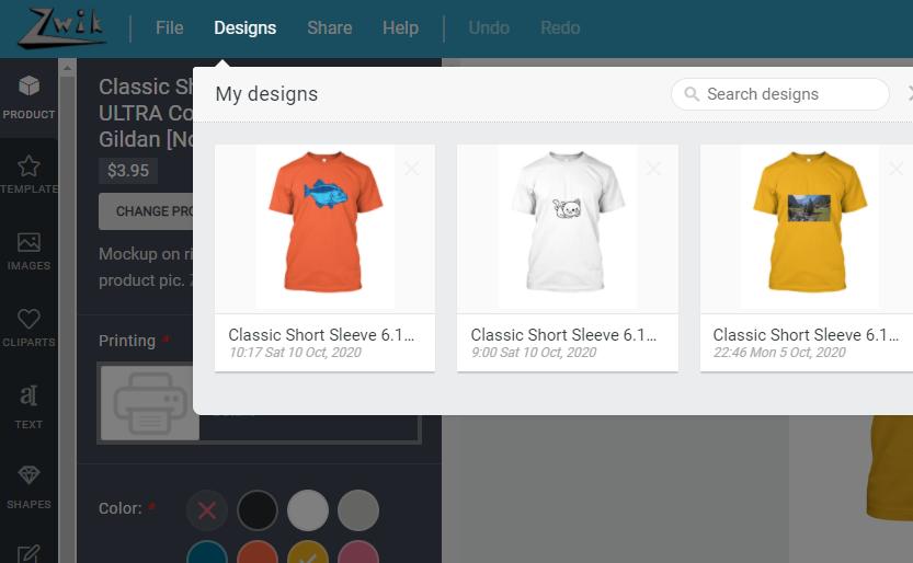my designs - zd help