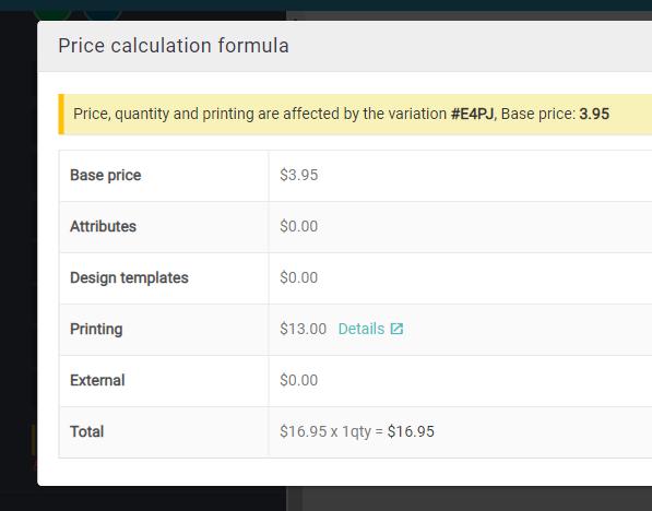 price calc formula