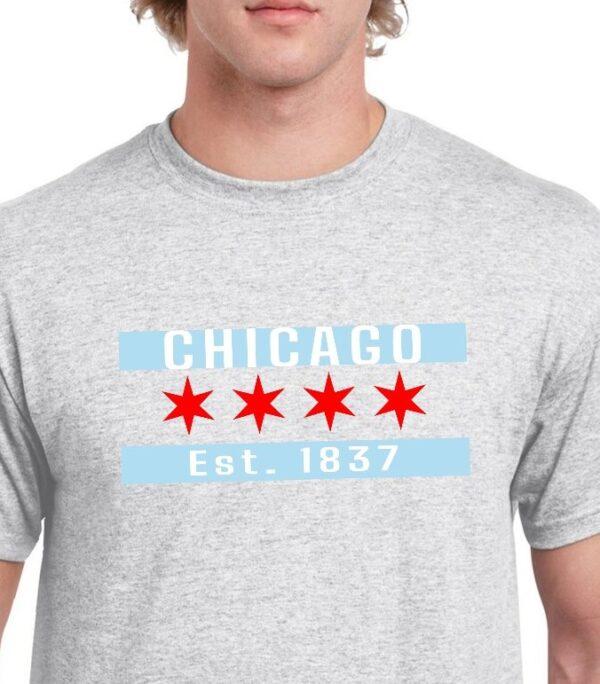 Chicago Flag Ash