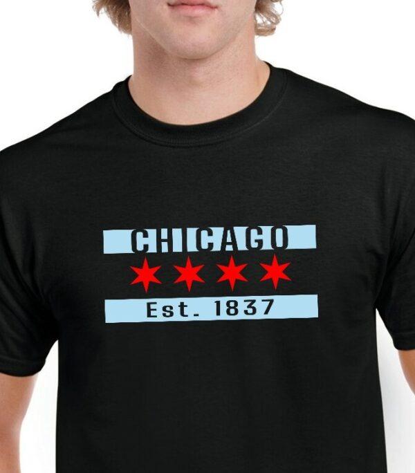 ChicagoFlag Black