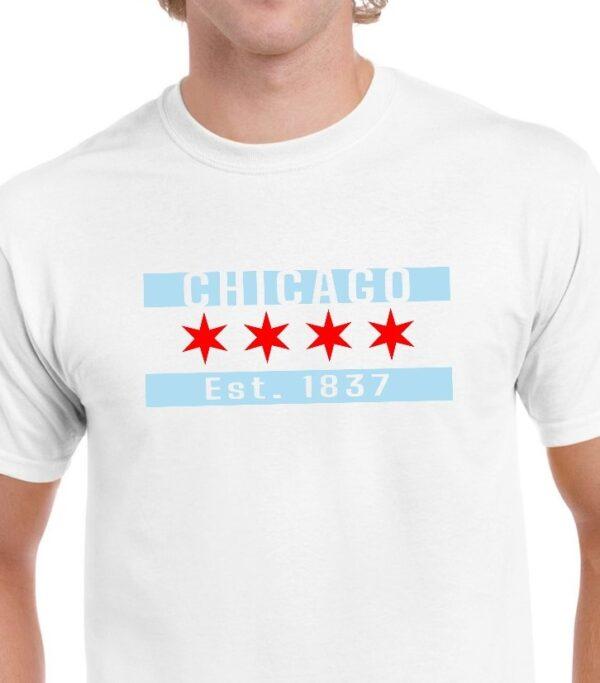 Chicago Flag White
